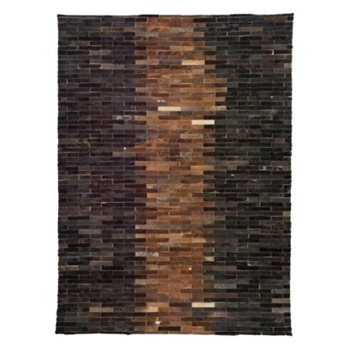 Zuo Alaska Cowhide Leather Rug in Brown