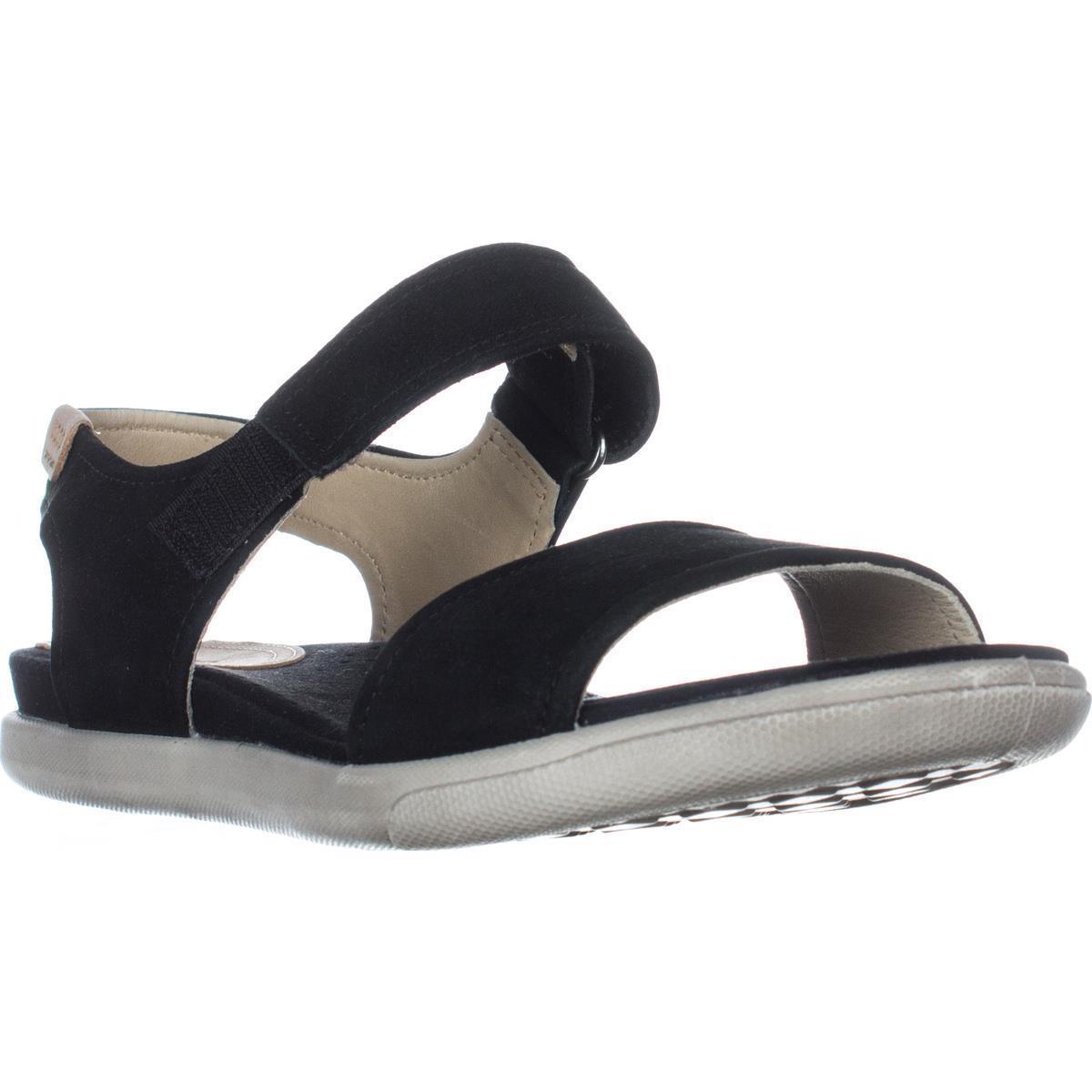 Womens ECCO Damara Flat Comfort Sandals, Black by Ecco