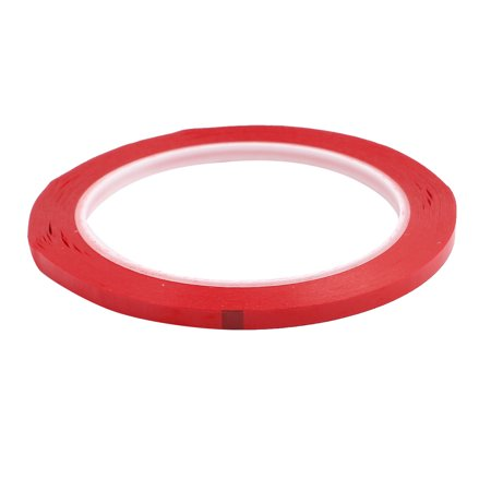5pcs 5mm x 66M Safety Caution Reflective Warning Sticker Adhesive Tape Red - image 1 of 2