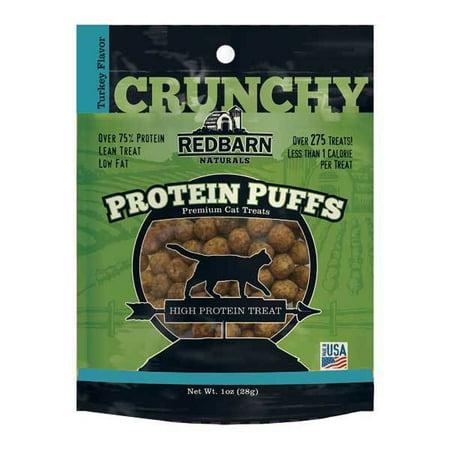 Protein Puff Healthy Cat Treat Snacks Choose Chicken Salmon or Turkey Flavor (Turkey)
