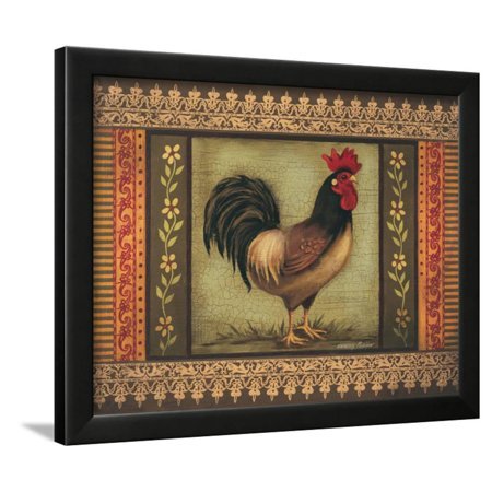 Rooster Framed Art - Mediterranean Rooster I Framed Print Wall Art By Kimberly Poloson