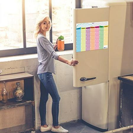 Wet or Dry Erase Refrigerator Magnet Calendar Laminated Monthly Planner 13x17