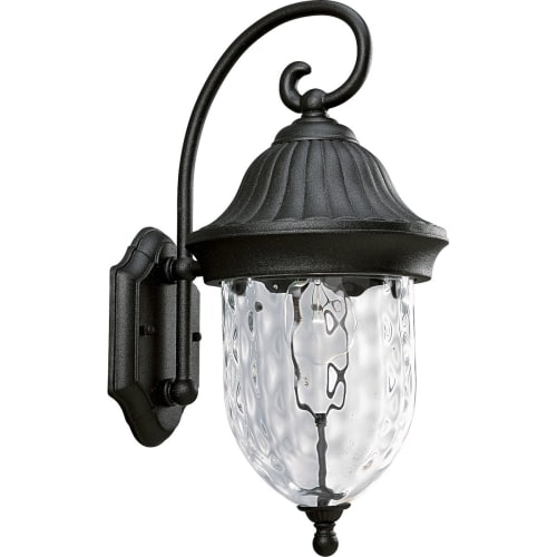 "Progress Lighting P5828 Coventry 1 Light 17"" Tall Outdoor Wall Sconce with Hammered Optic Glass Shade"