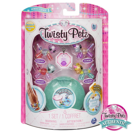 Twisty Petz - Babies 4-Pack Kitties and Unicorns Collectible Bracelet Set for Kids - Twistys Large
