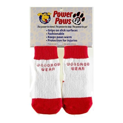 Power Paws Original Traction Socks for Dogs in Red with W...