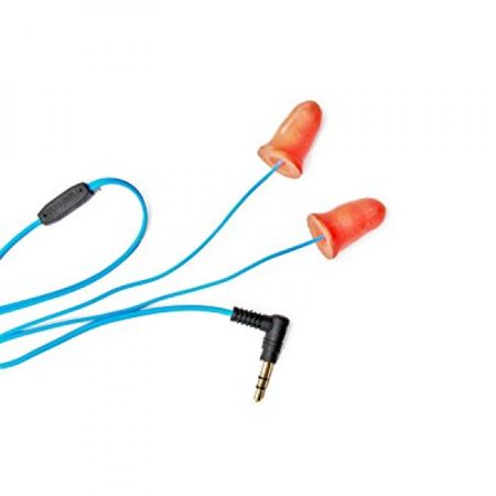 Orange Original Line Audio/music Playing Ear Plugs Resembles Silicone and Foam Hearing Protection, Earbuds/Headphones/Earphones Used for Ipod, Mp3,