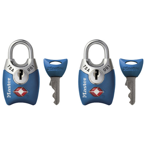 Master Lock 4689T Master Lock Luggage Padlock Assorted Colors, 2-Count