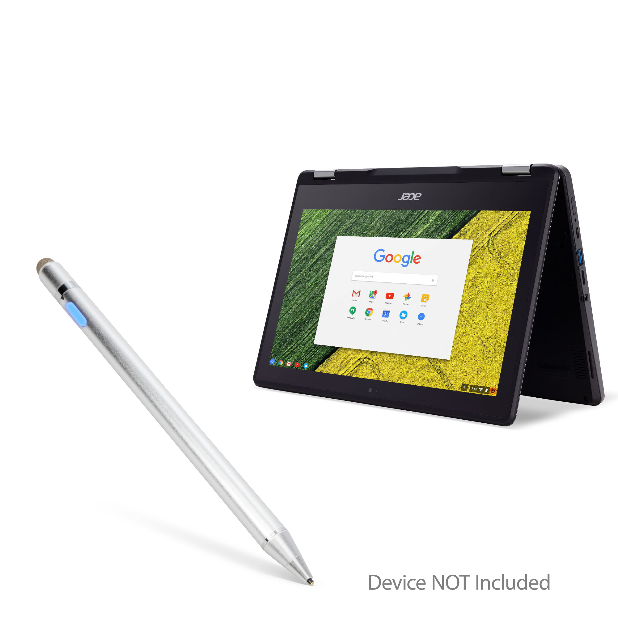 Broonel Black Mini Fine Point Digital Active Stylus Pen Compatible with The Acer TravelMate/P2 14 TMP214-51-56ZM