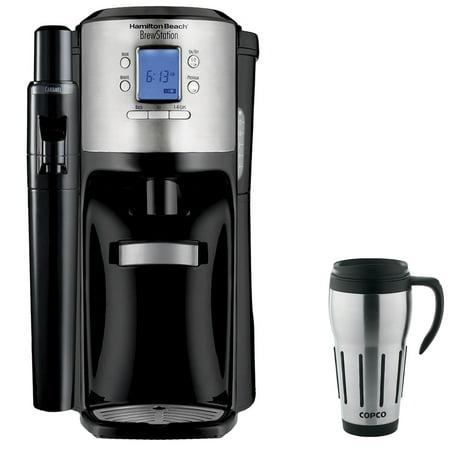 Hamilton Beach BrewStation with Flavor Dispenser Coffee Maker Black with Copco 24-Ounce Big Joe ...