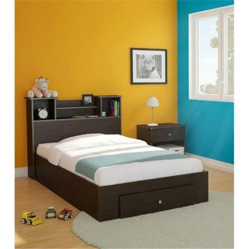 Pocono  Drawer Storage Bed With Bookcase Headboard And Night Stand