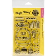 """Waffle Flower Crafts Clear Stamps, 4"""" x 6"""", Egg Hunt"""