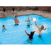 Swimways Poolside 24 39 Volleyball Net Swimming Pool Water Game Set 00801