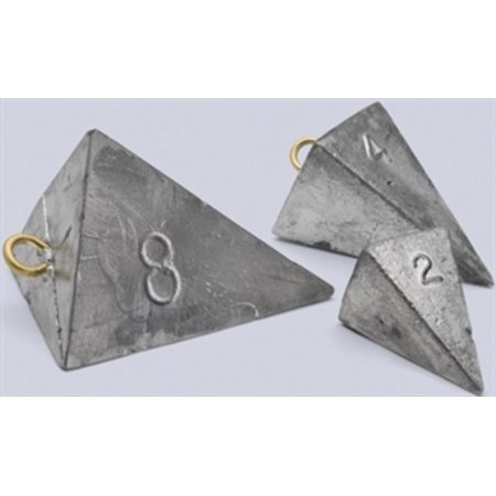 PY100 Bullet Weights Pyramid Sinkers 1 oz 80-Pack - Fishing