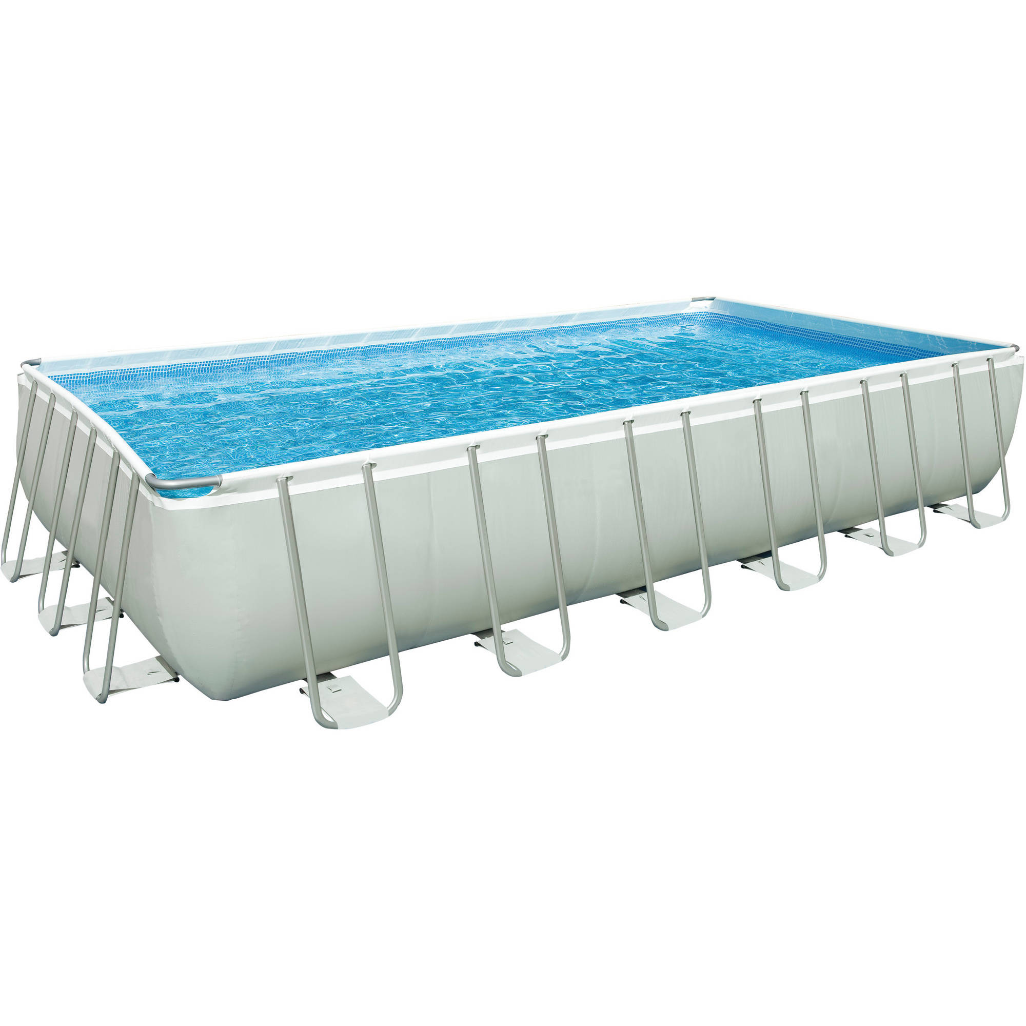 "Intex 24' x 12' x 52"" Ultra Frame Rectangular Above Ground Swimming Pool with Sand Filter Pump by Intex"