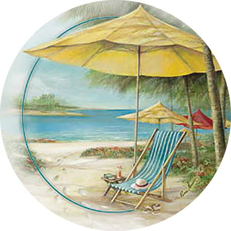 Thirstystone Occasions Drink Coasters, Beach Chair with Umbrella by