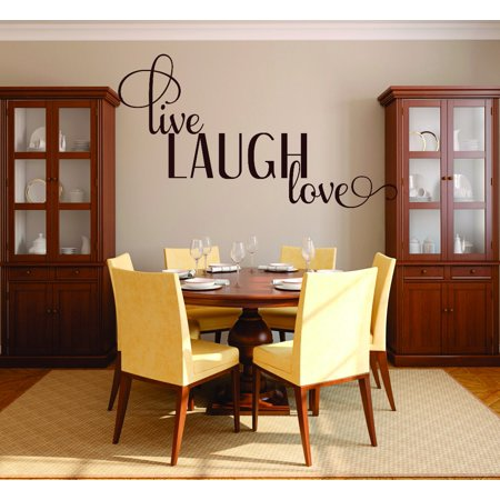 Decal Wall Sticker   Live Laugh Love Life Quote 20X30 Inches