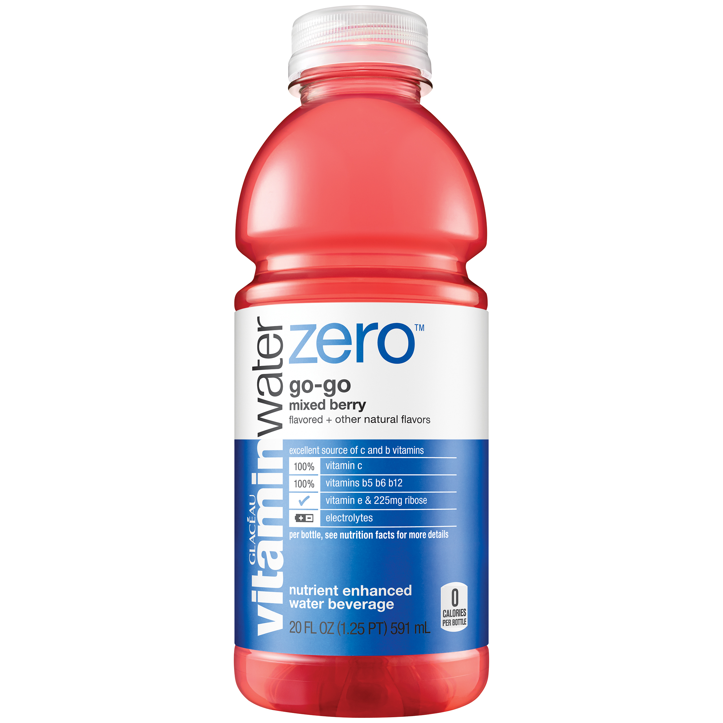 vitaminwater zero go-go, Mixed Berry vitaminwater zero, 20 fl oz