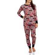 Women's Pajama Thermal Sleep Top and Pant 2 Piece Sleepwear Set