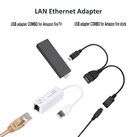 LAN Ethernet Adapter for AMAZON FIRE TV 3 for STICK GEN 2 or Or 2 Adapter - image 4 of 6