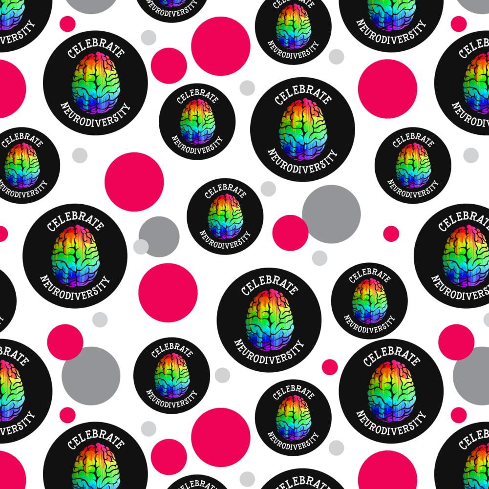 Celebrate Neurodiversity Brain Autism Rainbow Spectrum Home Business Office Sign