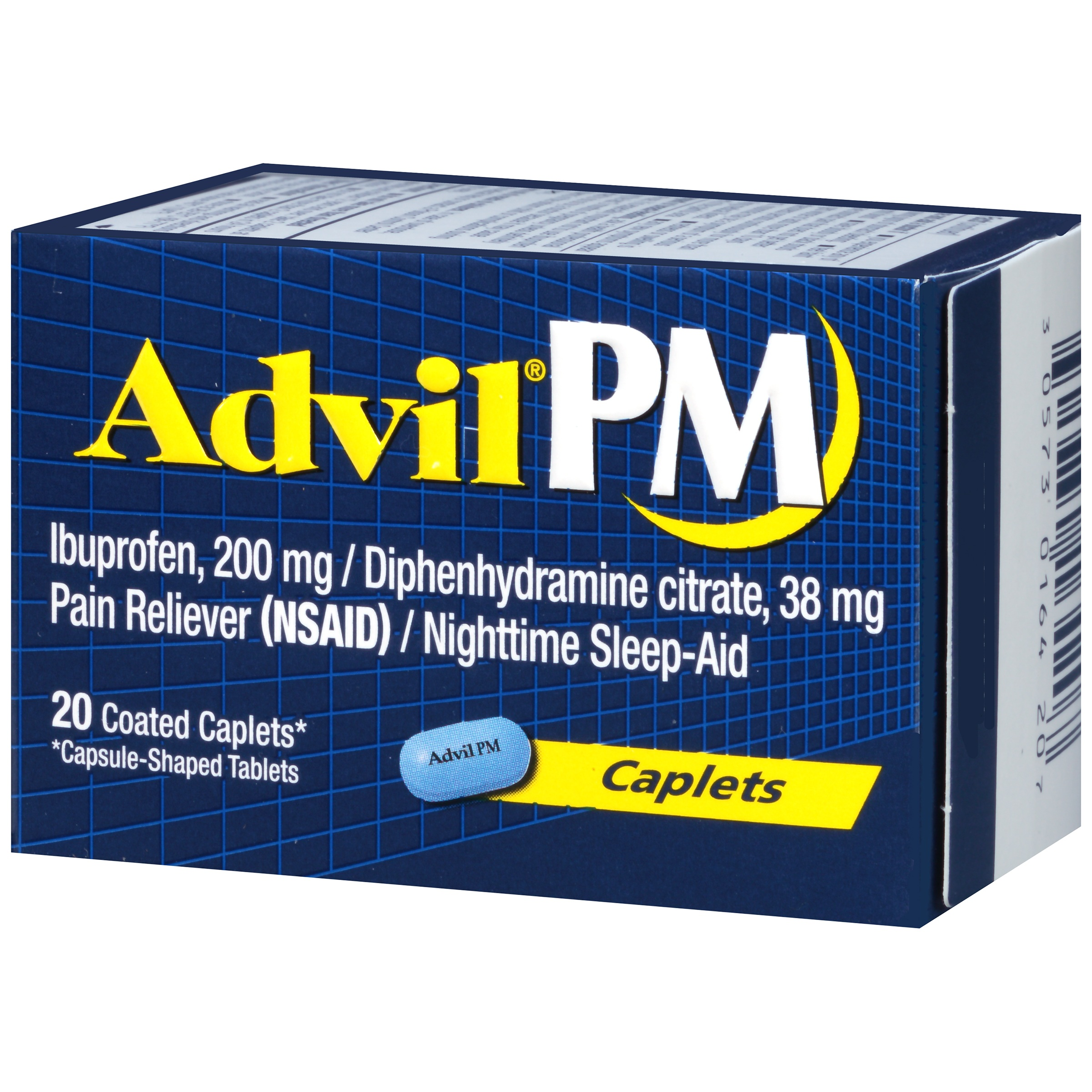 Advil Pm 20 Count Pain Reliever Nighttime Sleep Aid Caplet