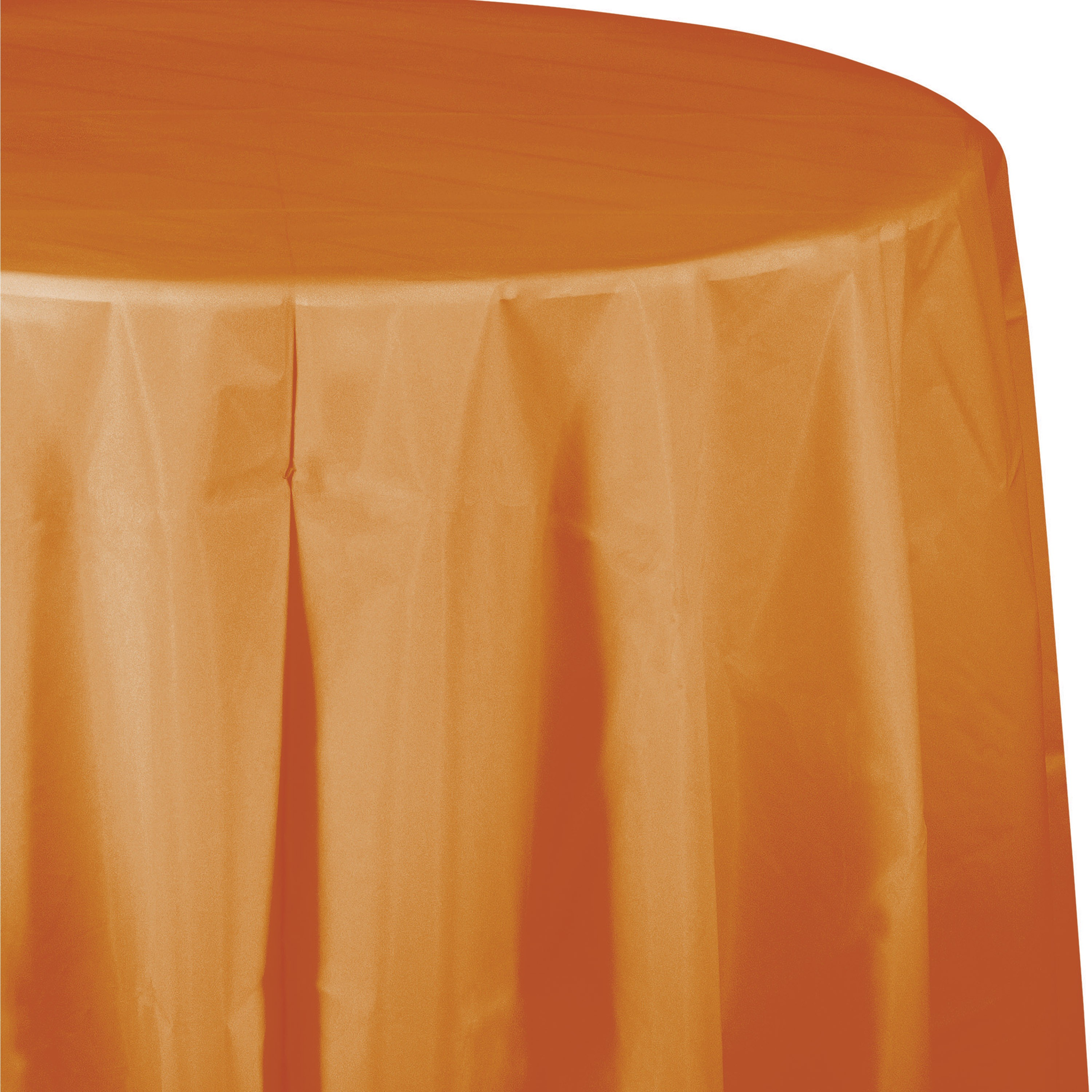 """Pumpkin Spice 82"""" Octy Round Tablecover/Case of 12"""