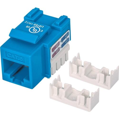 Intellinet 210737 Intellinet Network Solutions Cat6 Keystone Jack - UTP, Blue, Punch-down