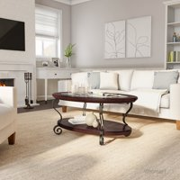 Furniture of America Ezell Coffee Table, Brown Cherry