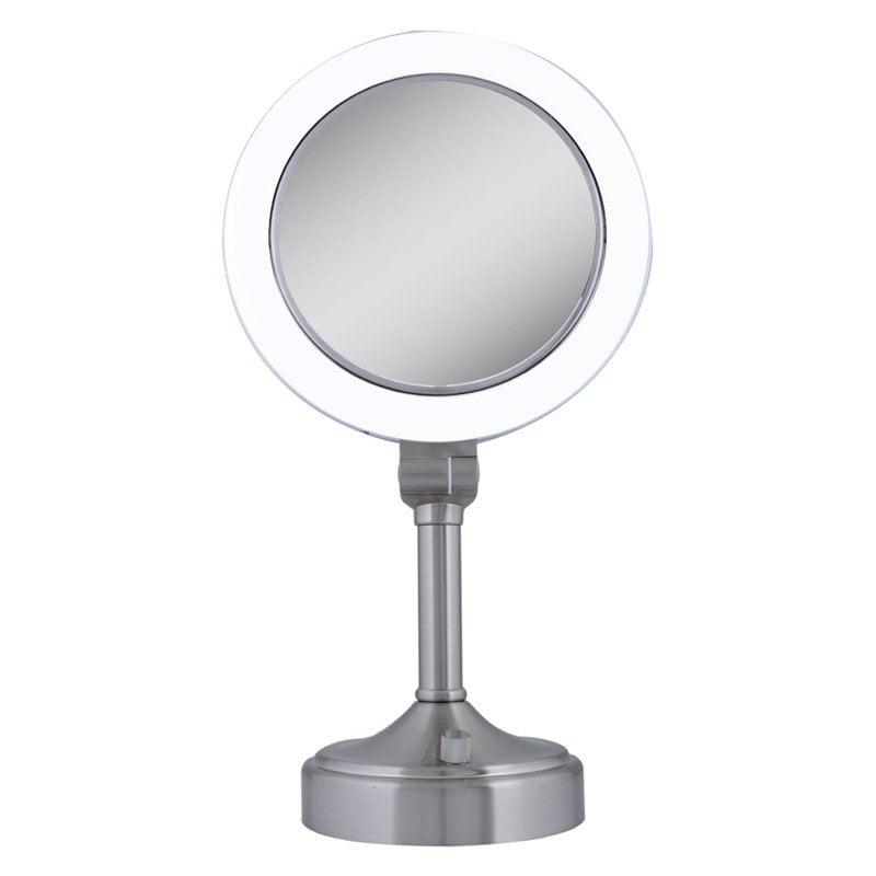 Zadro Surround Light 10X/1X Satin Nickel Vanity Mirror