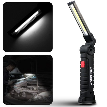 Eeekit Usb Rechargeable Work Light Magnetic Ultra Bright Cob Led Torch Inspection Lamp