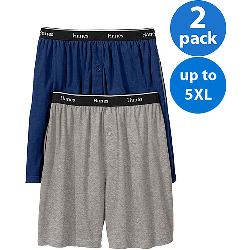 Hanes Big Men's Knit Shorts, 2-Pack