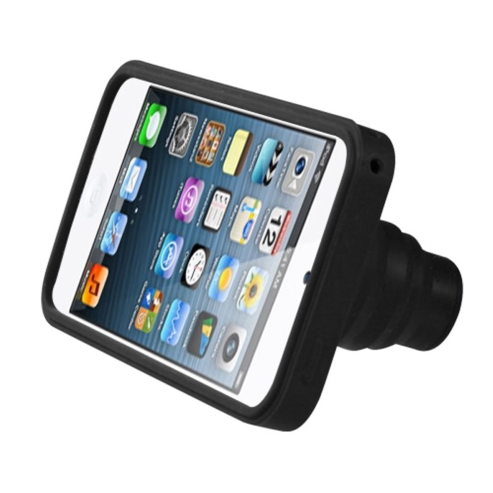 Black Camera Style Stand Case w// Lanyard For APPLE iPod touch 6th 5th Gen