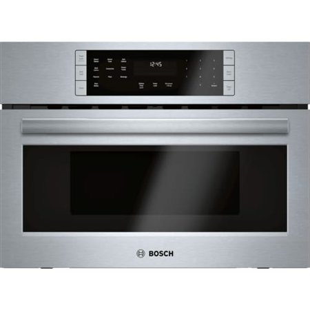 Bosch 800 Series HMC87152UC - Microwave oven with convection and grill - built-in - wall mounted - 1.6 cu. ft - 1000 W - stainless steel