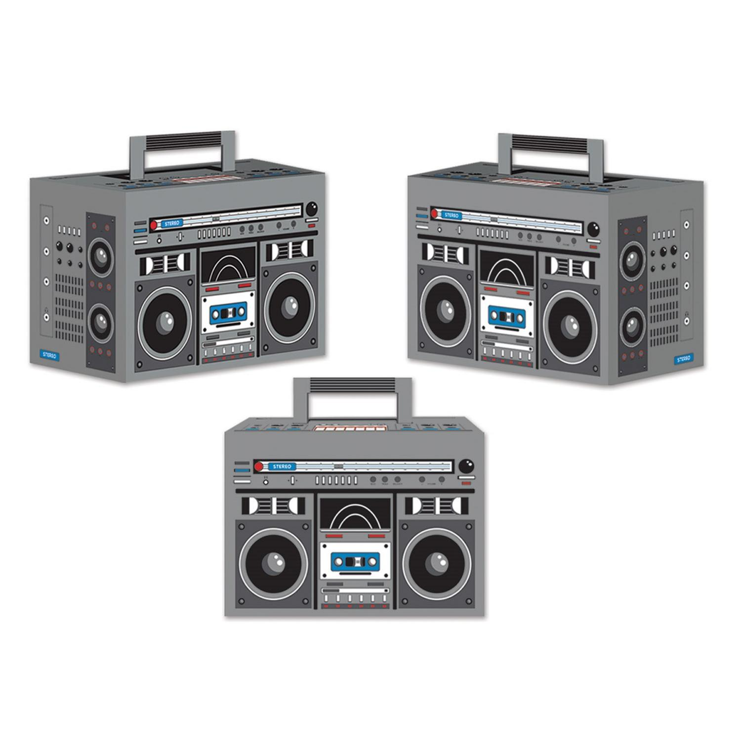 Club Pack of 36 Decorative Retro Boombox Party Favor Boxes 5.75""