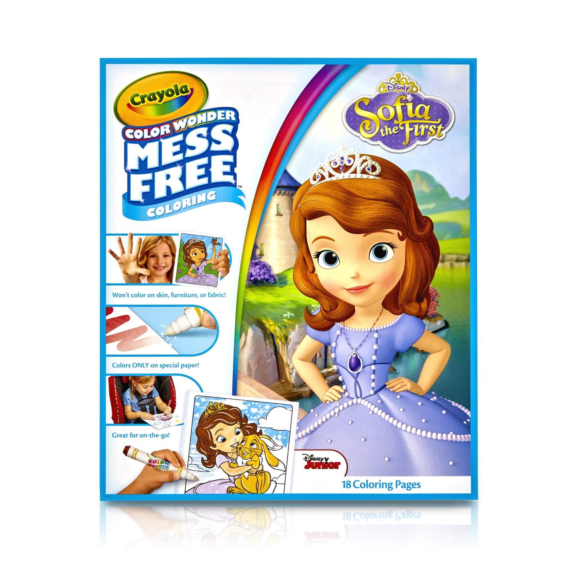 "Crayola Color Wonder Sofia the First, 18 Coloring Pages 10"" x 8.5"""
