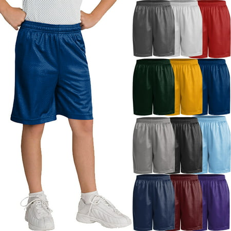 Kids' Casual Basketball Active Mesh Shorts Champion White Basketball Shorts