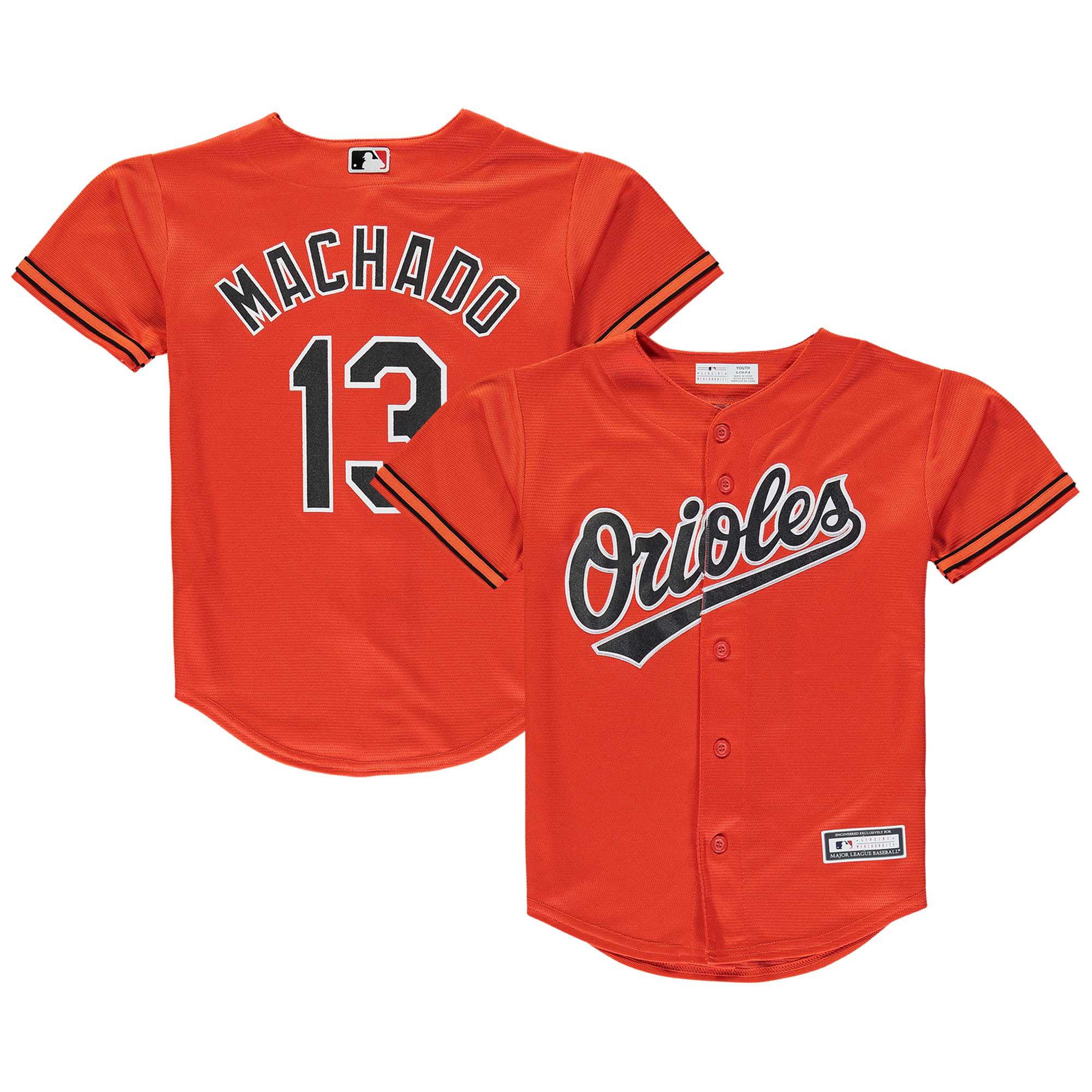 Manny Machado Baltimore Orioles Youth Player Replica Jersey - Orange