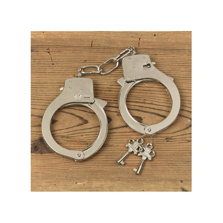 Metal Handcuffs Adult Halloween Accessory - This Is Halloween Metal Tab