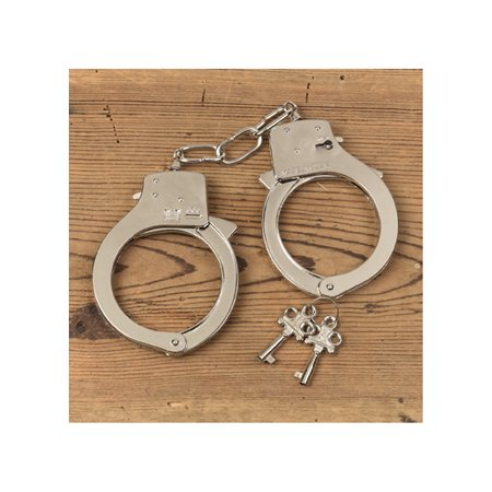 Metal Handcuffs Adult Halloween Accessory - Heavy Metal Band Halloween