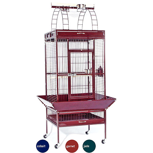 "Prevue Select Wrought Iron Parrot Bird Cage 24x20x60"", Garnet Red"