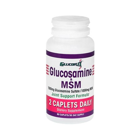Glucosamine Glucoflex et la formule de soutien interarmées Msm, 2 caplets par jour - 60 Ea