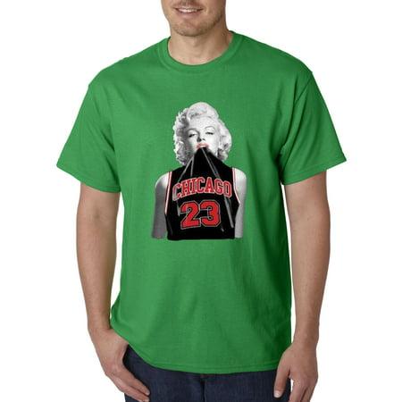 New Way 445 - Unisex T-Shirt Marilyn Monroe Chicago Bulls Jordan 23 Black Jersey