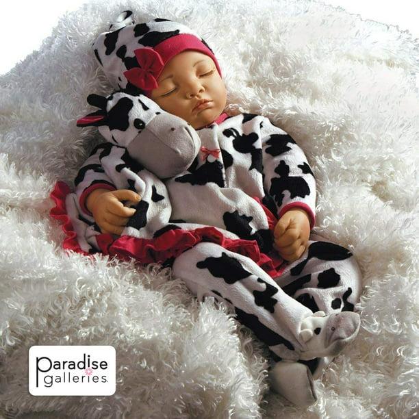 Paradise Galleries Reborn Baby Girl Newborn Doll Over The Moooon 19 Inch Sleeping Baby In Gentletouch Vinyl 4 Piece Set Walmart Com Walmart Com