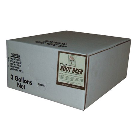 Willtec Diet Root Beer Bag In Box Syrup 3 Gal