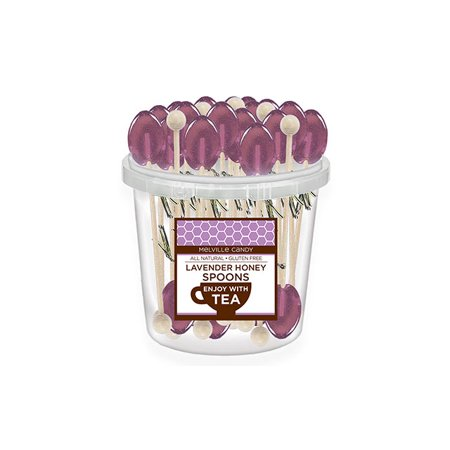 All Natural Lavender Tea Spoons Bulk: 50 Count