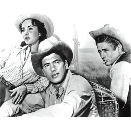 Athlon Sports CTBL-022154 Rock Hudson, James Dean & Elizabeth Taylor Unsigned Vintage B&W 8 x 10 Photo From the 1956 Film Giant - image 1 of 1
