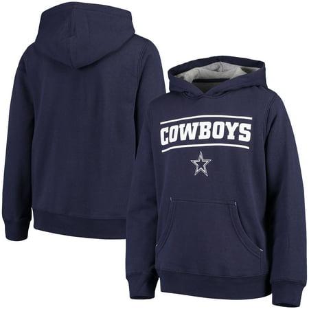 Nfl Dallas Cowboys Navy Sweatshirt - Youth Navy Dallas Cowboys Hal Pullover Hoodie