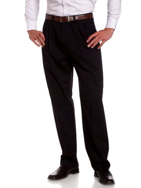 Savane Performance Big & Tall Expandable Waist Chino Pant - Pleated