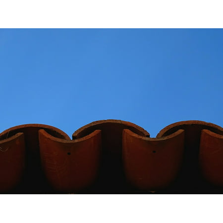 - Framed Art For Your Wall Roof Orange Tile Sky Roofing Red Latin America 10x13 Frame