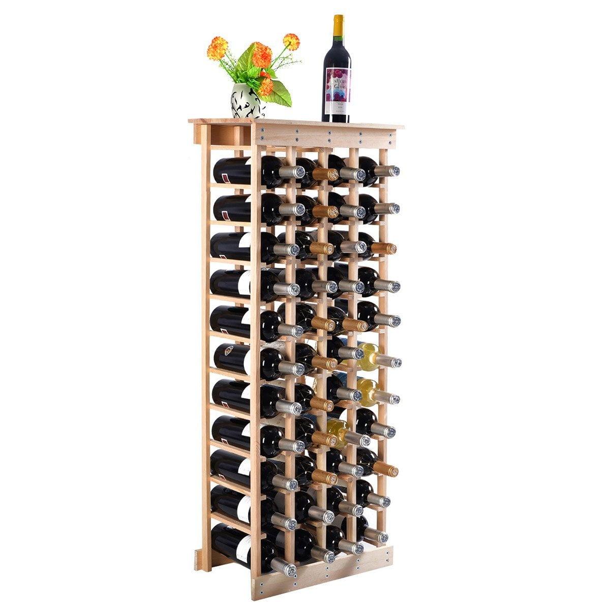 China New MTN-G 44 Bottle Wood Wine Rack Storage Display Shelves Kitchen Decor Natural